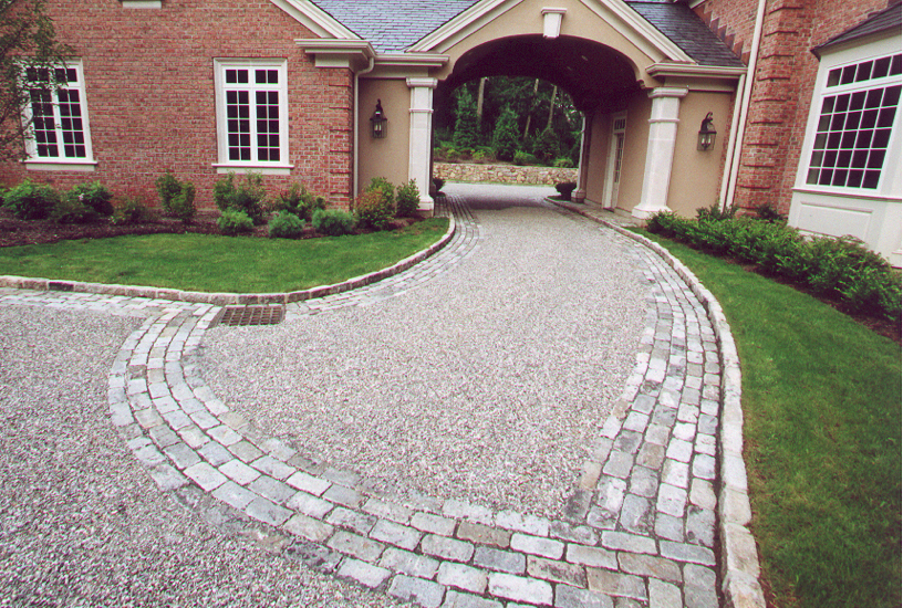River Rock Landscaping Curb Appeal
