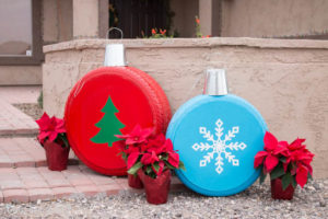 Large and over sized Christmas ornaments