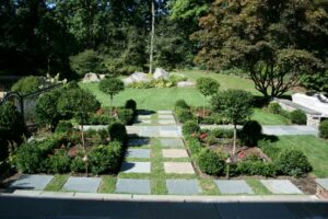 A backyard landscape design by Ambrosio Landscaping Solutions