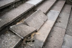 Old and broken stone steps