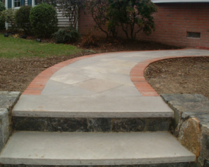 Stone stairs and pathway