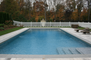 A swimming pool designed by Ambrosio Landscape Solutions