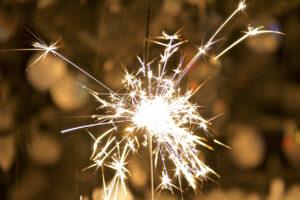 A Celebration celebrated with a vibrant sparkler