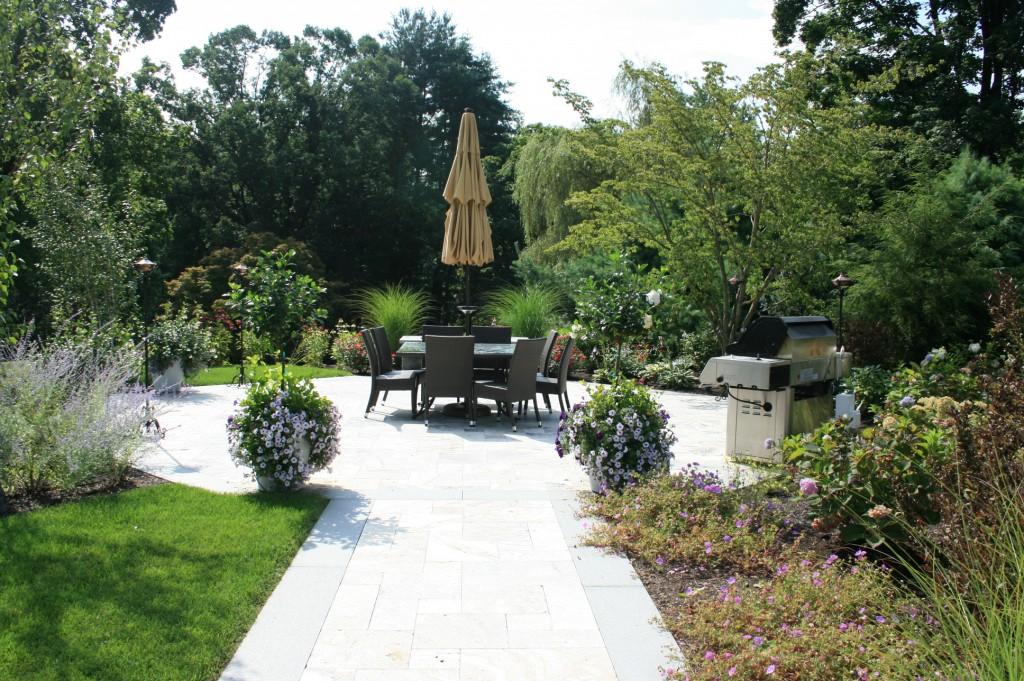 Stone walkway and patio