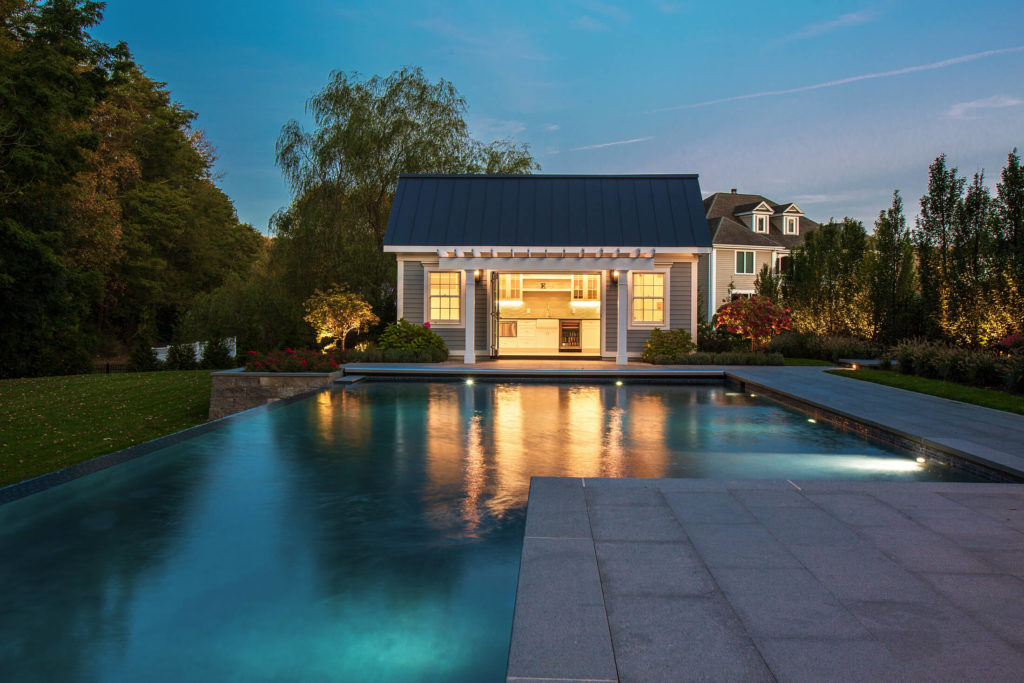 Poolside and Pool house