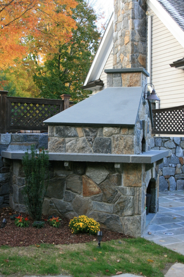 Outdoor Fireplaces & Fire Pits | Landscape Design New Canaan CT | Westport CT