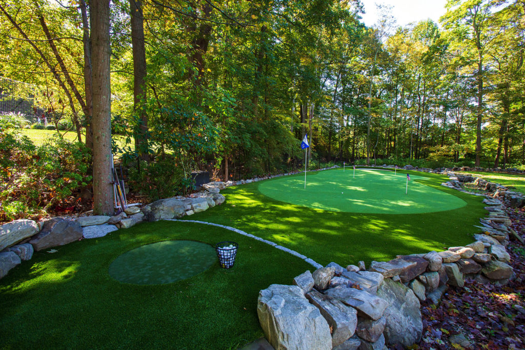 Outdoor golf course and putting green