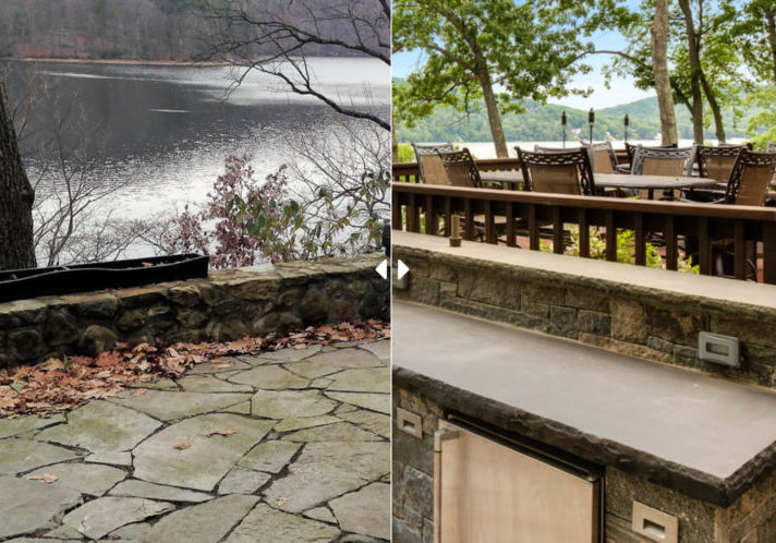 Before and after of stone masonry