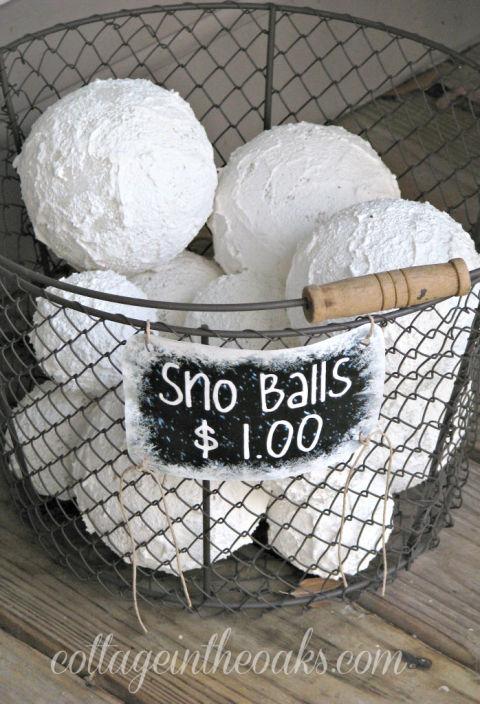 Faux-snow-balls | Landscape Design