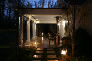 landscape lighting at night