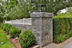 Stone pillar of driveway